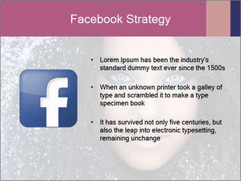 Woman in a snowy furry hood PowerPoint Template - Slide 6