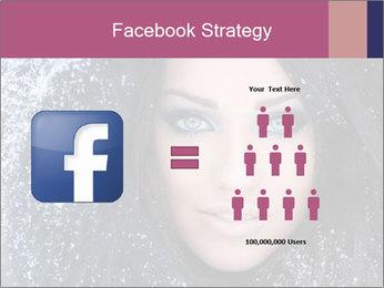 Woman in a snowy furry hood PowerPoint Template - Slide 7