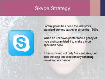 Woman in a snowy furry hood PowerPoint Template - Slide 8