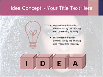 Woman in a snowy furry hood PowerPoint Template - Slide 80