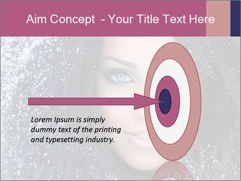Woman in a snowy furry hood PowerPoint Template - Slide 83