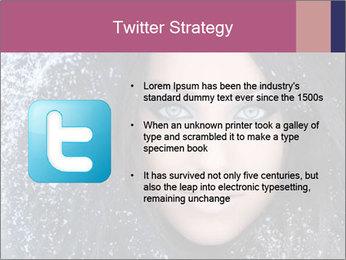 Woman in a snowy furry hood PowerPoint Template - Slide 9