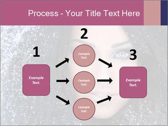 Woman in a snowy furry hood PowerPoint Template - Slide 92