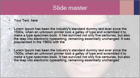 Woman in a snowy furry hood PowerPoint Template - Slide 2