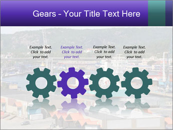 Containers on ships PowerPoint Template - Slide 48