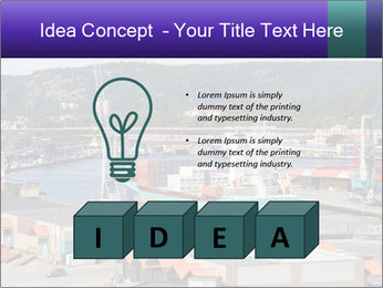 Containers on ships PowerPoint Template - Slide 80