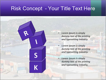 Containers on ships PowerPoint Template - Slide 81