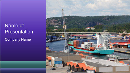 Containers on ships PowerPoint Template
