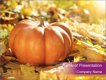 Halloween pumpkin PowerPoint Template - Slide 1
