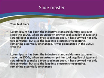Technician in mask PowerPoint Template - Slide 2
