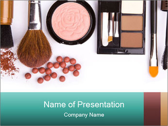 Makeup brush PowerPoint Template - Slide 1