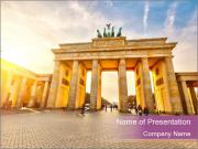 Berlin at sunset PowerPoint Template