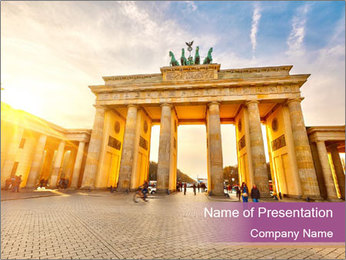 Berlin at sunset PowerPoint Template - Slide 1
