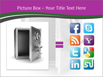Security metal safe PowerPoint Template - Slide 21