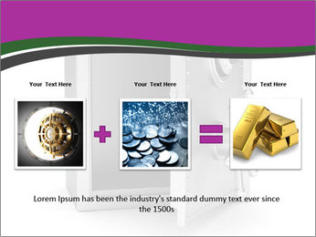 Security metal safe PowerPoint Template - Slide 22