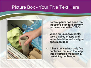 Rubbish recycling PowerPoint Template - Slide 13