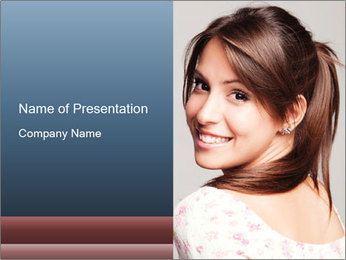 Friendly smiling PowerPoint Template - Slide 1