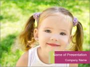 Cute little girl PowerPoint Templates