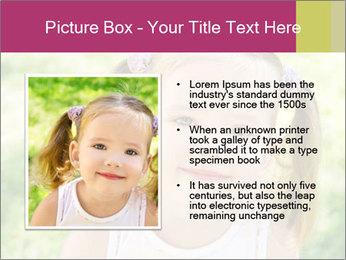 Cute little girl PowerPoint Template - Slide 13