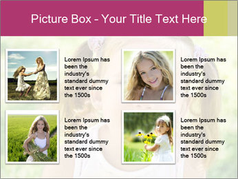 Cute little girl PowerPoint Template - Slide 14