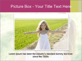 Cute little girl PowerPoint Template - Slide 16
