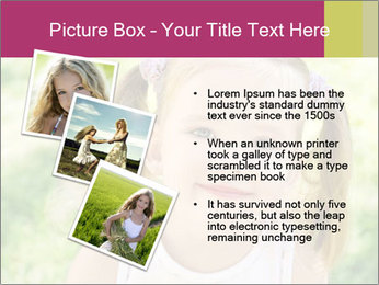 Cute little girl PowerPoint Template - Slide 17