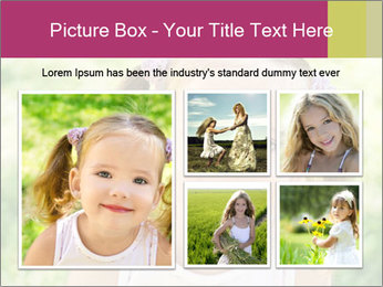 Cute little girl PowerPoint Template - Slide 19