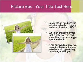 Cute little girl PowerPoint Template - Slide 20