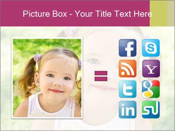 Cute little girl PowerPoint Template - Slide 21