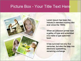 Cute little girl PowerPoint Template - Slide 23
