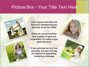 Cute little girl PowerPoint Template - Slide 24
