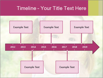 Cute little girl PowerPoint Template - Slide 28