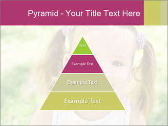 Cute little girl PowerPoint Template - Slide 30
