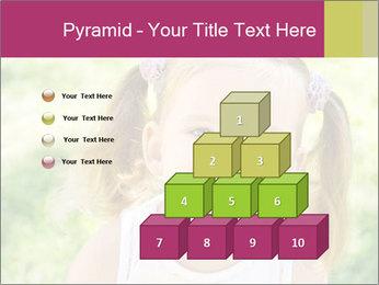 Cute little girl PowerPoint Template - Slide 31