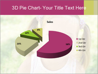 Cute little girl PowerPoint Template - Slide 35