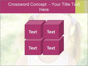 Cute little girl PowerPoint Template - Slide 39