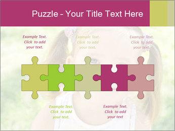 Cute little girl PowerPoint Template - Slide 41