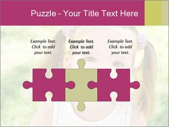 Cute little girl PowerPoint Template - Slide 42