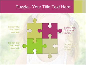 Cute little girl PowerPoint Template - Slide 43