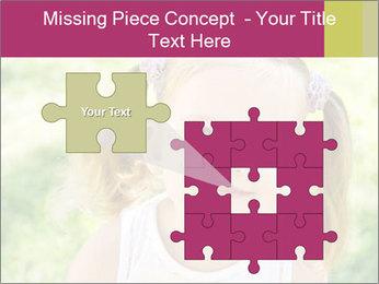 Cute little girl PowerPoint Template - Slide 45