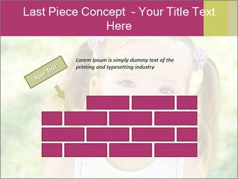 Cute little girl PowerPoint Template - Slide 46