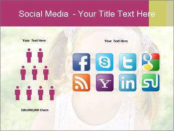 Cute little girl PowerPoint Template - Slide 5
