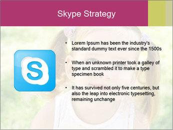 Cute little girl PowerPoint Template - Slide 8