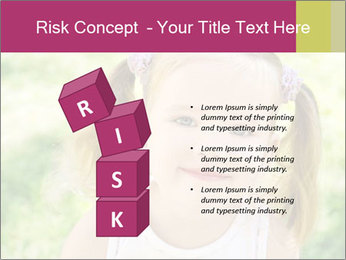 Cute little girl PowerPoint Template - Slide 81