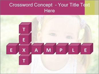 Cute little girl PowerPoint Template - Slide 82