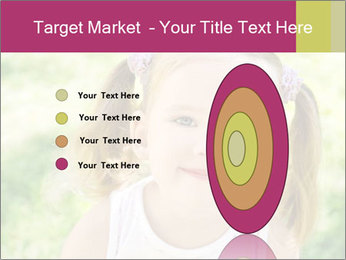 Cute little girl PowerPoint Template - Slide 84