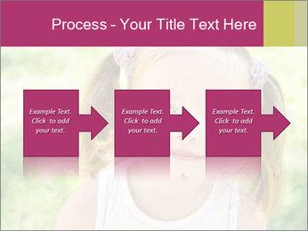 Cute little girl PowerPoint Template - Slide 88
