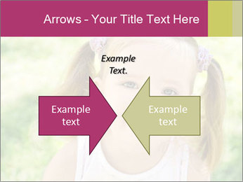 Cute little girl PowerPoint Template - Slide 90