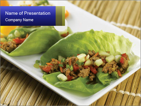 Lettuce wrap PowerPoint Template