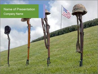 Soldier Battle Crosses PowerPoint Template